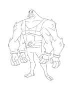 Ben 10 Omniverse - 16 year old Four Arms Line Art
