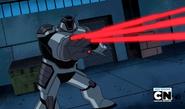 Robot Techadon disparando de 4 dedos