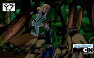 Eunice peleando contra los DNAliens Aracnochimpances
