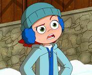 Gwen in snow outift