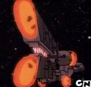 La nave de Vilgax en su primera aparicion