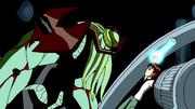 Vilgax prestes a retirar o Omnitrix de Ben
