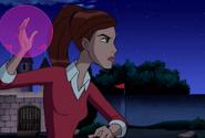Gwen con una bola de mana en su mano