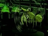 Doctor animo arriba de su insecto de costado