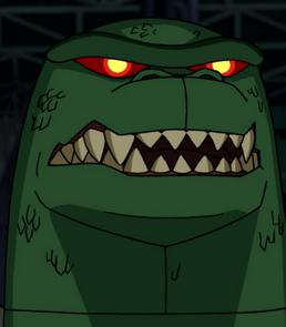 Tabber inicial do Robô de T-Rex em As Superaventuras dos Heróis Alienígenas