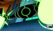 Guardian mecamorfico nave disparando