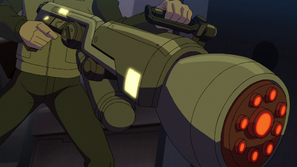 Imagem completa do Disruptor Dimensional em Mutante Rex- Heróis Unidos