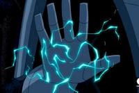 Caballero Eterno con mano electrizante