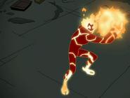 Fuego haciendo una bola de fuego