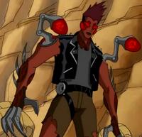 Rojo fusionada con un robot de Vilgax