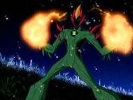 Swampfire produce fuego