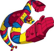 Blox pose in cartoon