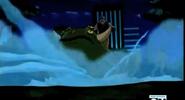 Friagem congelando sapo mutante em Não É Fácil Ser A Gwen
