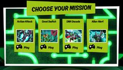 Omnitrix Glitch Games Select