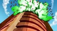 Torre de Billy Billones explosionando