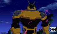 Robot Techadon Amarillo caminando