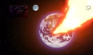 La Tierra apunto de ser golpeada por el meteorito =O