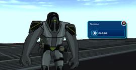 Tetrax con casco