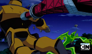 Robot Techadon amarillo es vencido =D