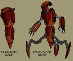 Attack robot design by Devilpig