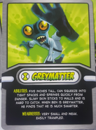 Grey Matter Cereal Card