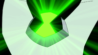 Omnitrix de Feedback brillando para la destransformación TMTC1