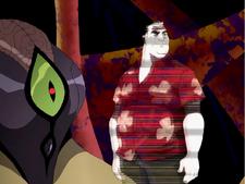 Max en holovisor y un DNAlien