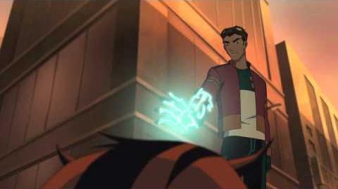 Heroes United Ben 10's Lodestar and Wrath help Generator Rex