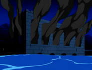 Castillo de darkstar con humo