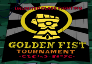 Golden fist logo