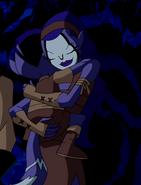 RookShar abrazando a Pequeño