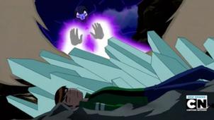 Eon atacando pero el diamante protege a Ben
