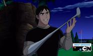 Kevin con mano palito de golf xD