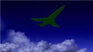 Jet de Kevin planeando