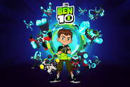 Ben 10 with Omni-Enhanced aliens card