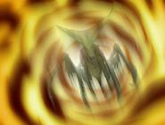 Insecto del doctor animo sobre fuego