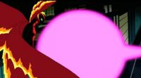 Frío Supremo esquivando el escudo de Gwen