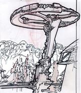 Torre Omnitrix desenhada por Obena