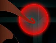 Tentaculo de gluto tocando un boton