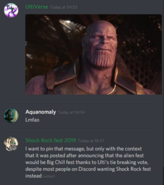 Thanos Big Chill Fest