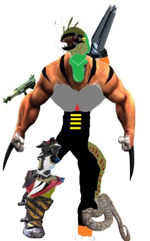 Super Mutant Cyborg Hammer Leg