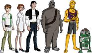 Starwars ben 10 heroes by deviantdeath6910-d3inm05