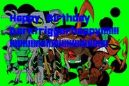 Happy Birthday Dark, from Bry