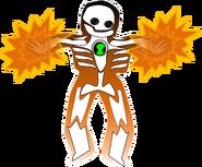 Super Nova firing radiation
