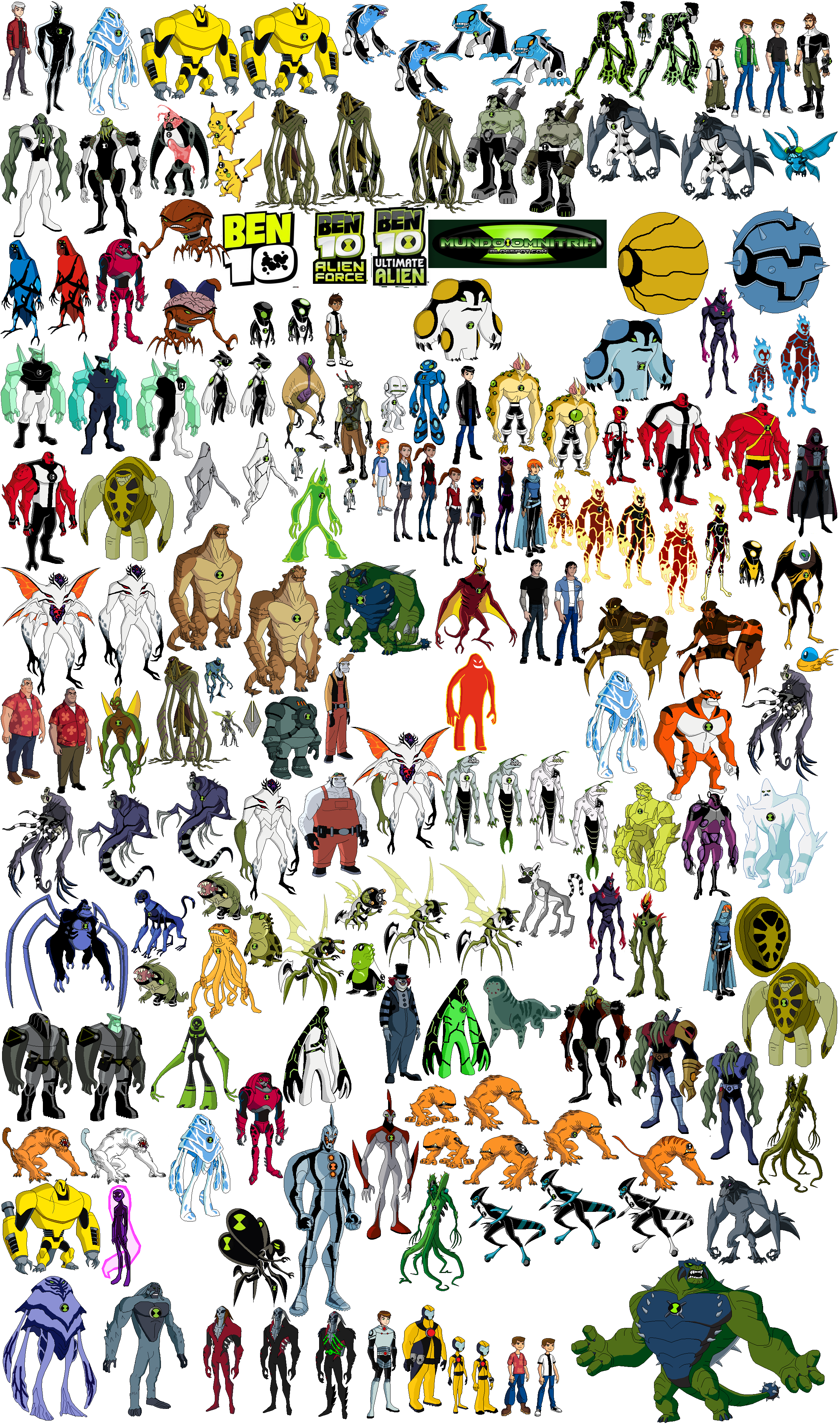 user blog charbel2001 who can fuse all these aliens ben 10 fan