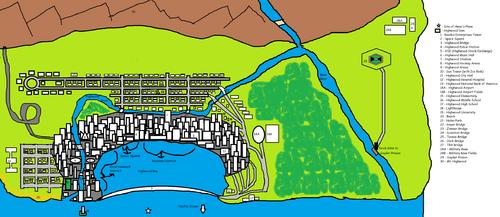 Highwood Map with Key