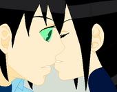 Shiki and Izumi Almost Kiss