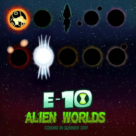 E-10 Alien Worlds, Teaser Poster