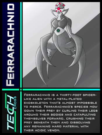 Tech Cross Card Ferrarachnid