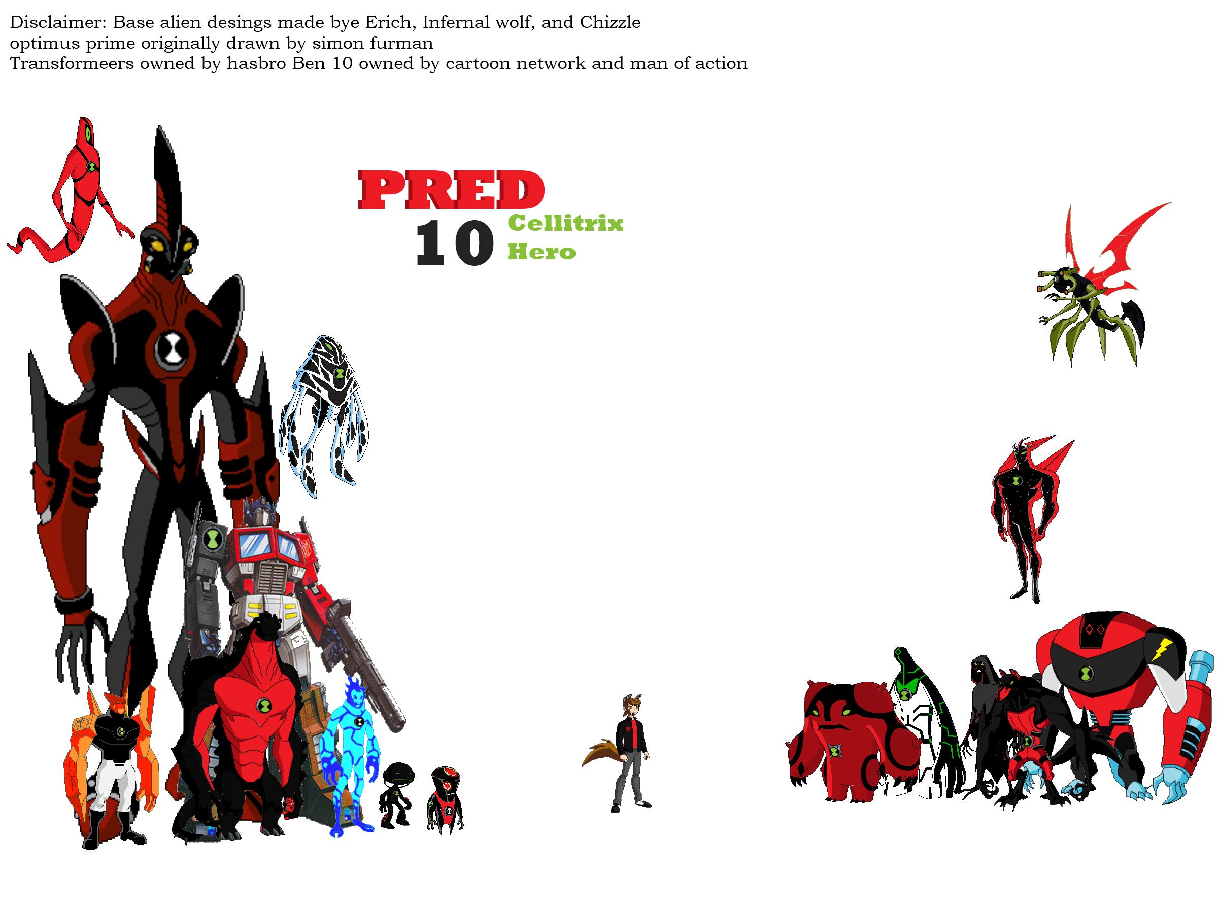 image pred 1p all aliens png ben 10 fan fiction wiki fandom